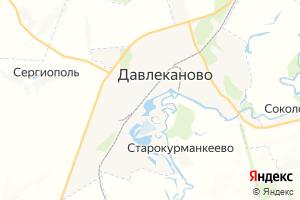 Карта г. Давлеканово Республика Башкортостан
