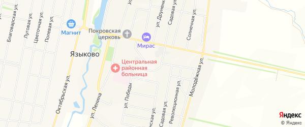 Карта села Языково в Башкортостане с улицами и номерами домов