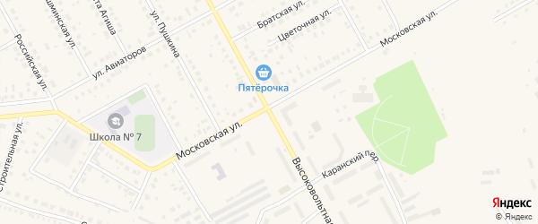 Высоковольтная улица на карте Давлеканово с номерами домов