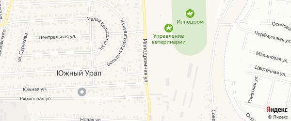 Ипподромная улица на карте садового некоммерческого товарищества Тополя Оренбургской области с номерами домов