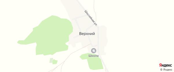 Карта Верхнего хутора в Башкортостане с улицами и номерами домов