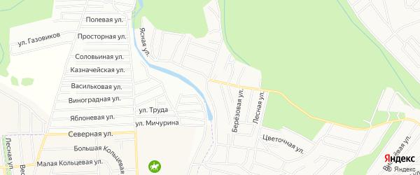 Карта садового некоммерческого товарищества Железнодорожника города Оренбурга в Оренбургской области с улицами и номерами домов
