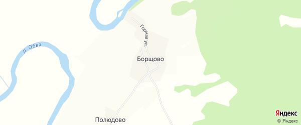 Карта деревни Борщово в Пермском крае с улицами и номерами домов