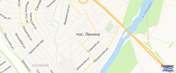 СНТ Сударушка на карте поселка Ленина Оренбургской области с номерами домов