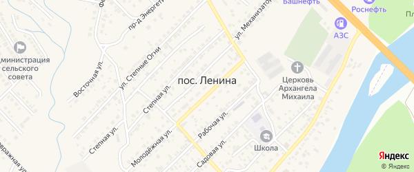 Виноградный переулок на карте садового некоммерческого товарищества Хутора Степановский Оренбургской области с номерами домов