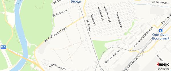 Карта садового некоммерческого товарищества Сигнала города Оренбурга в Оренбургской области с улицами и номерами домов