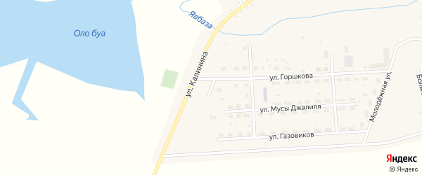 Озерная улица на карте села Москово с номерами домов