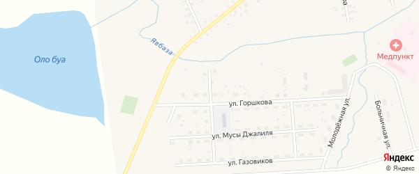 Речная улица на карте села Москово Башкортостана с номерами домов