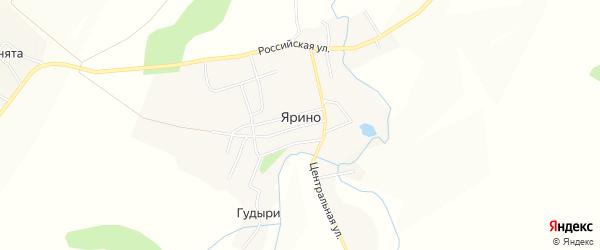 Карта деревни Ярино в Пермском крае с улицами и номерами домов