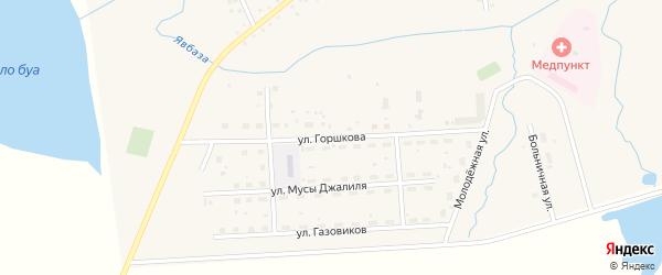 Улица Горшкова на карте села Москово с номерами домов