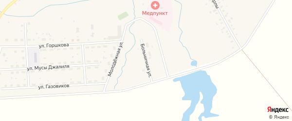 Больничная улица на карте села Москово Башкортостана с номерами домов