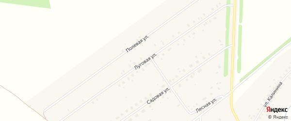 Луговая улица на карте села Москово Башкортостана с номерами домов