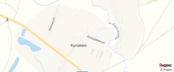 Кольцевая улица на карте деревни Купаево Башкортостана с номерами домов