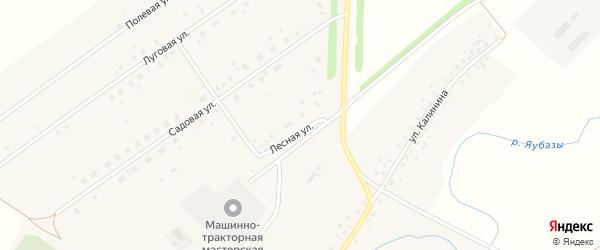 Лесная улица на карте села Москово Башкортостана с номерами домов