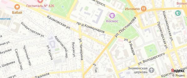 Некрасовский переулок на карте Оренбурга с номерами домов