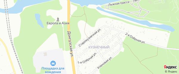 Старокузнечная улица на карте территории Кузнечного с номерами домов