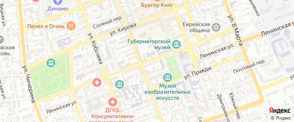 Пушкинская улица на карте Оренбурга с номерами домов