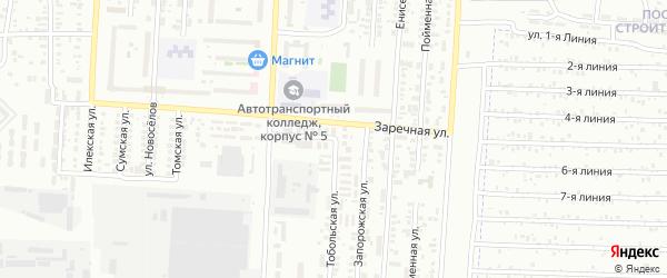 Тобольская улица на карте Оренбурга с номерами домов