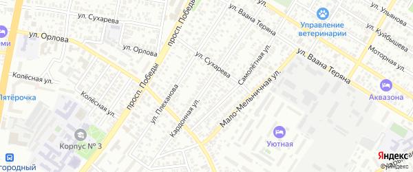 Кардонная улица на карте Оренбурга с номерами домов