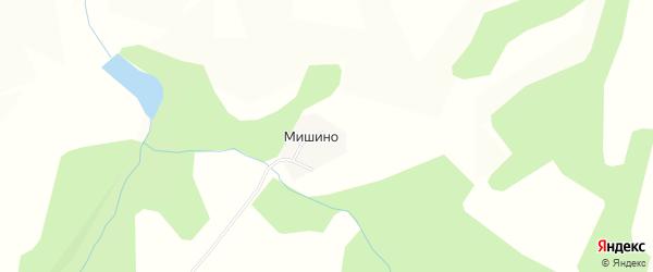 Карта деревни Мишино в Пермском крае с улицами и номерами домов