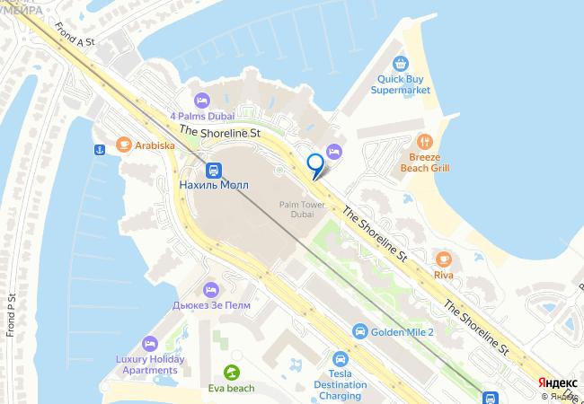 карта дубай с домами