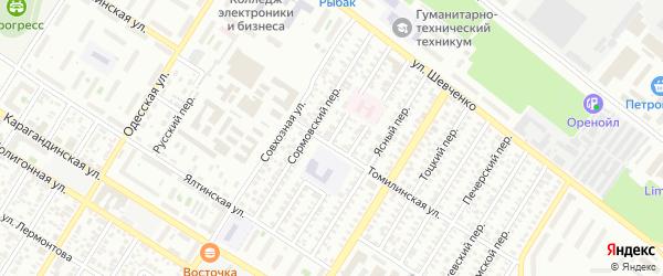 Флотский переулок на карте Оренбурга с номерами домов