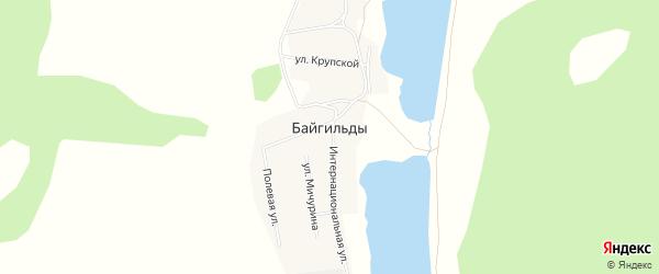 Карта села Байгильды в Башкортостане с улицами и номерами домов