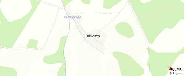 Карта деревни Климяты в Пермском крае с улицами и номерами домов