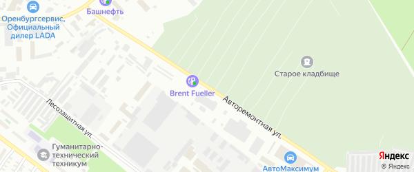 Авторемонтная улица на карте Оренбурга с номерами домов