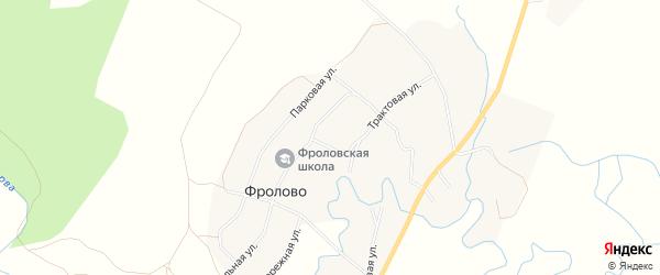 Карта деревни Фролово в Пермском крае с улицами и номерами домов
