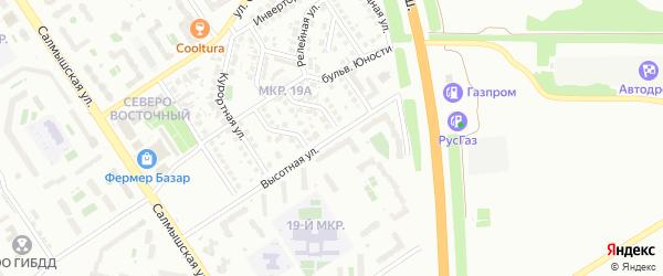 Высотная улица на карте Оренбурга с номерами домов