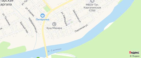 Улица Сагита на карте села Татарской Каргала Оренбургской области с номерами домов