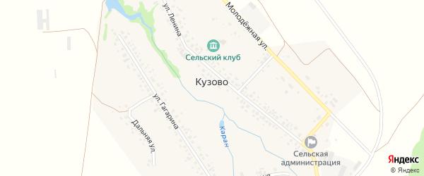 Дачная улица на карте села Кузово с номерами домов
