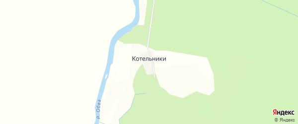 Карта деревни Котельники в Пермском крае с улицами и номерами домов