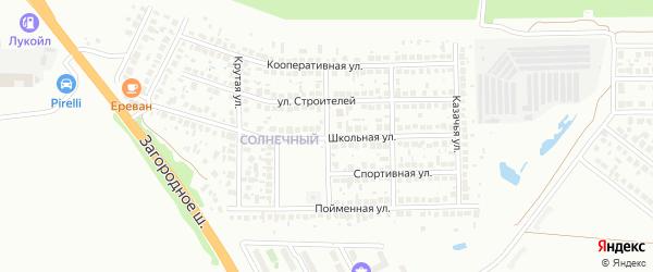 Лесная улица на карте Солнечного микрорайона с номерами домов