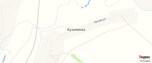 Западная улица на карте деревни Кузьминки с номерами домов