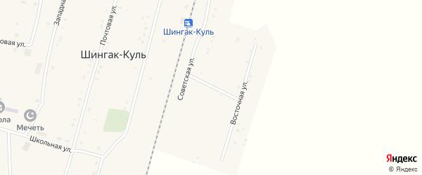 Колхозный переулок на карте села Шингак-Куль Башкортостана с номерами домов