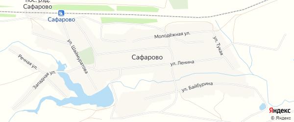 Карта села Сафарово в Башкортостане с улицами и номерами домов