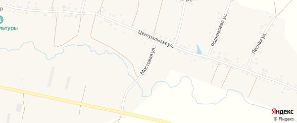 Мостовая улица на карте села Калмашево с номерами домов