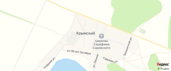 Карта села Крымского в Башкортостане с улицами и номерами домов