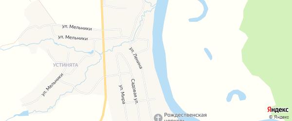 Карта села Рождественска в Пермском крае с улицами и номерами домов