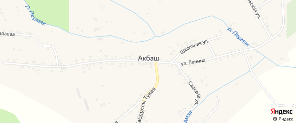 Тукая улица на карте села Акбаша Пермского края с номерами домов