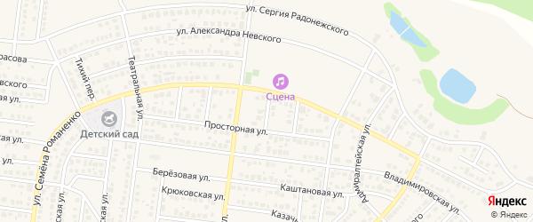 Переулок Суворова на карте села Ивановки Оренбургской области с номерами домов