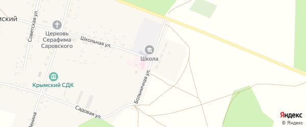Больничная улица на карте села Крымского с номерами домов