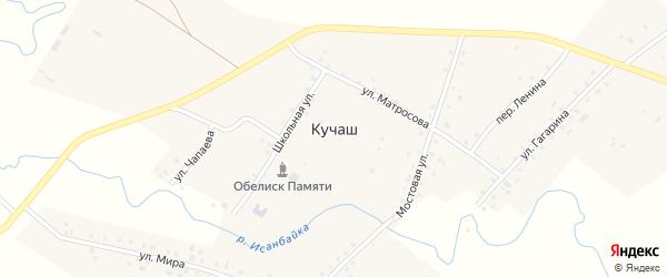 Дорожная улица на карте села Кучаш с номерами домов