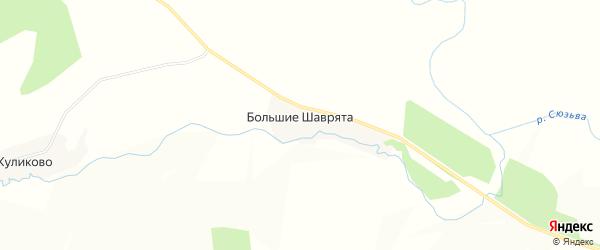 Карта деревни Большие Шаврята в Пермском крае с улицами и номерами домов