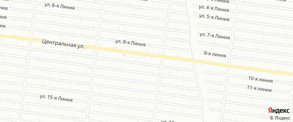 Улица 12 Линия на карте садового некоммерческого товарищества Гвоздика с номерами домов