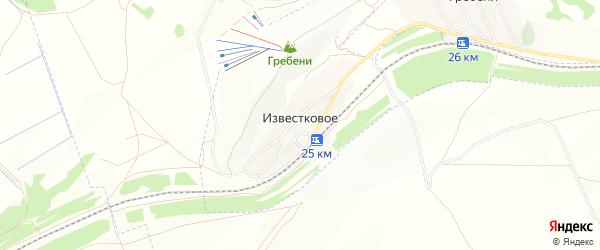 Карта Известкового села в Оренбургской области с улицами и номерами домов