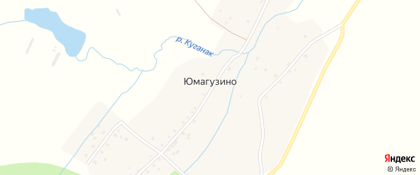 Молодежная улица на карте деревни Юмагузино с номерами домов