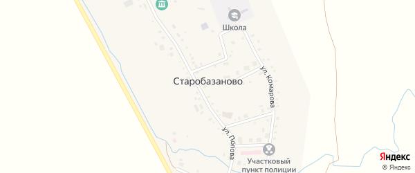 Больничный переулок на карте села Старобазаново с номерами домов